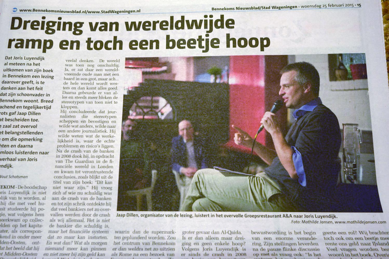 Joris Luijendijk lezing Dit kan niet waar zijn (Bennekom)